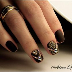 Ideas of matte nails photo