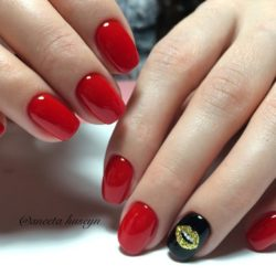 Red nails ideas photo