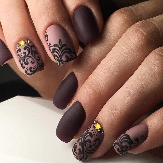 Brown matte nails - Nail Art #3397 - Best Nail Art Designs Gallery BestArtNails.com