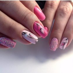 Pink dress nails photo