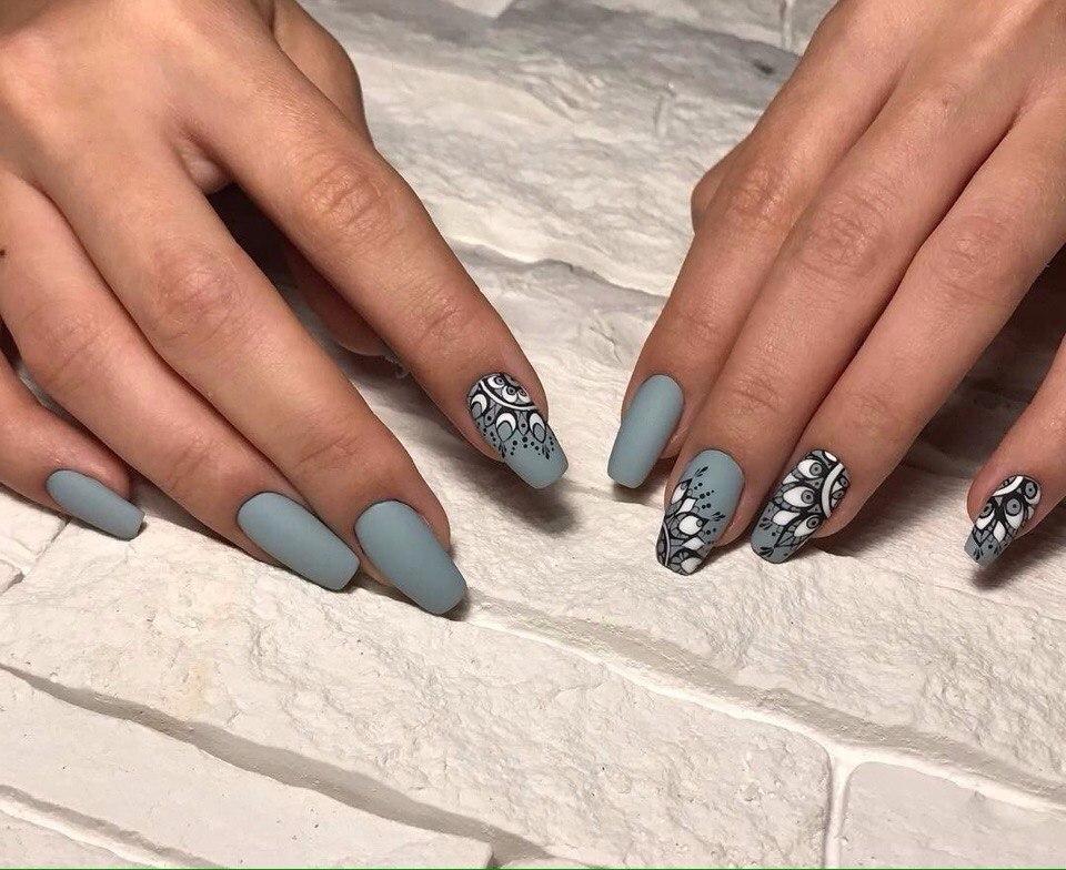 Маникюр на длинные ногти дизайн 2017 гелем