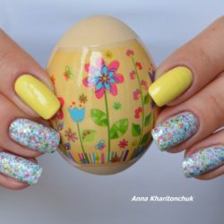 Easter nail art photo