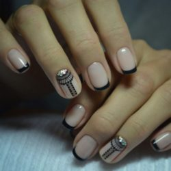 Black dress nails photo