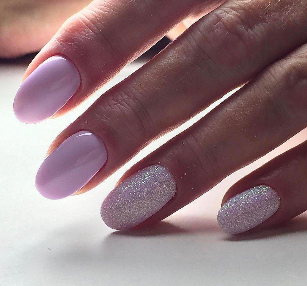 Ногти с дизайном круглой формы