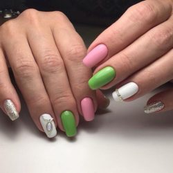 Tri-color nails photo