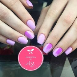 Fashion liliac nails photo