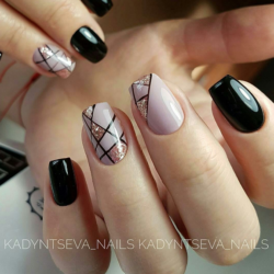 Dark shades nails photo