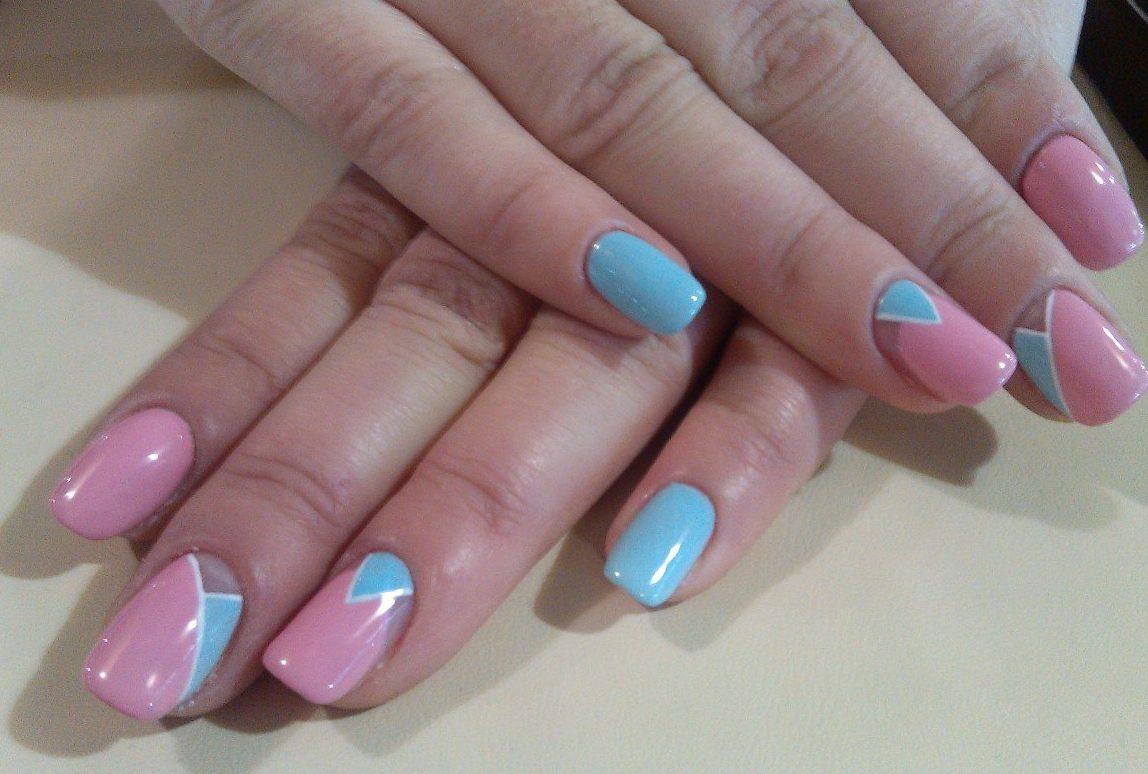 Spring moon nails