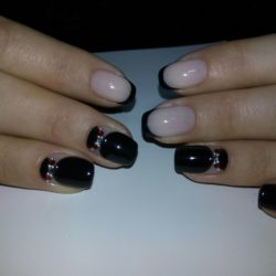 Black french manicure photo