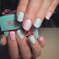 Beautiful bright nails photo