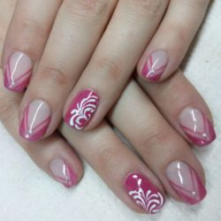Purple french manicure photo