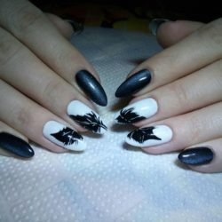 Feather nail art photo