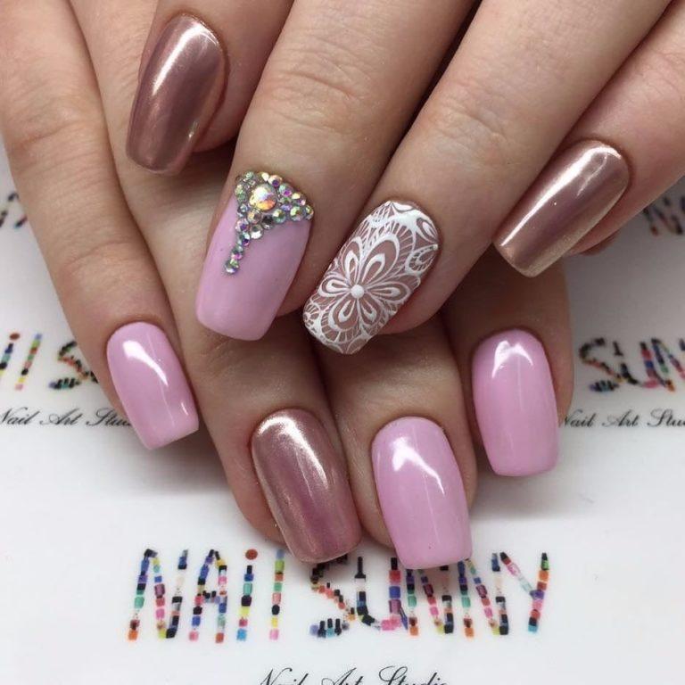Pink spring nails