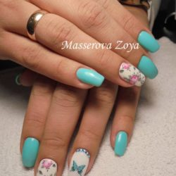 Short spring nails photo