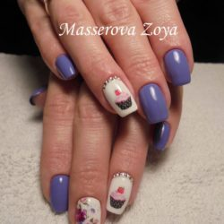 Purple summer nails photo