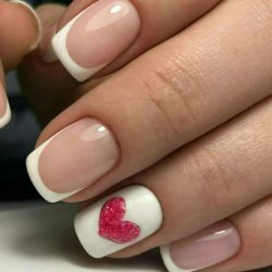 Spring french manicure photo