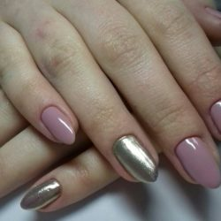 Two color spring nails photo