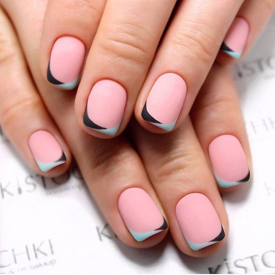 two-color french manicure - The Best Images | BestArtNails.com