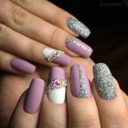 Nails with shiny dust photo