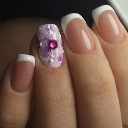 Ideas of summer french nails photo