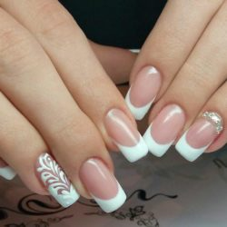 Long french manicure photo