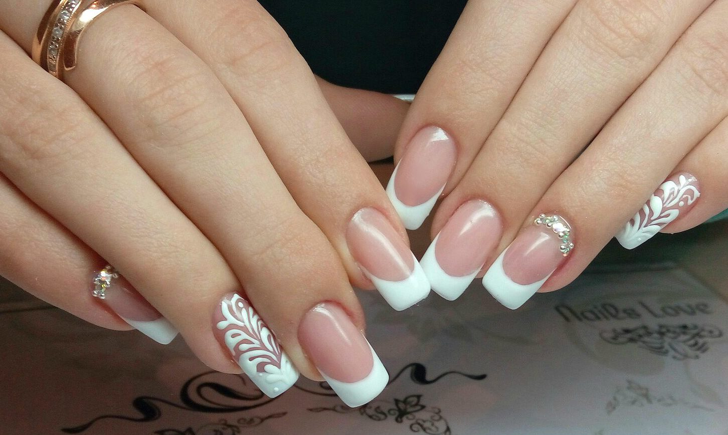 Festive French nails - The Best Images | BestArtNails.com