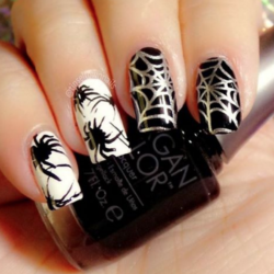 Black and white nail ideas photo