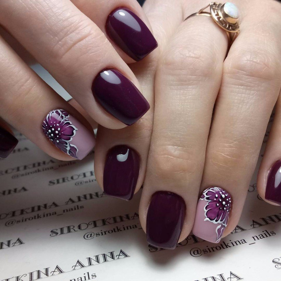 Dark purple nails - The Best Images | BestArtNails.com