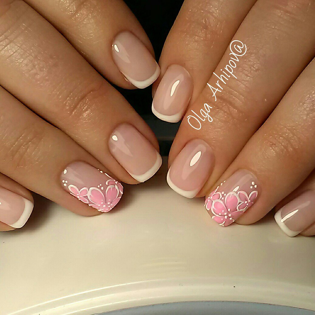 Stylish French nails - The Best Images | BestArtNails.com