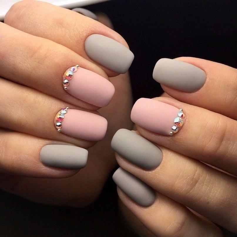 Розовые матовые ногти дизайн 2017