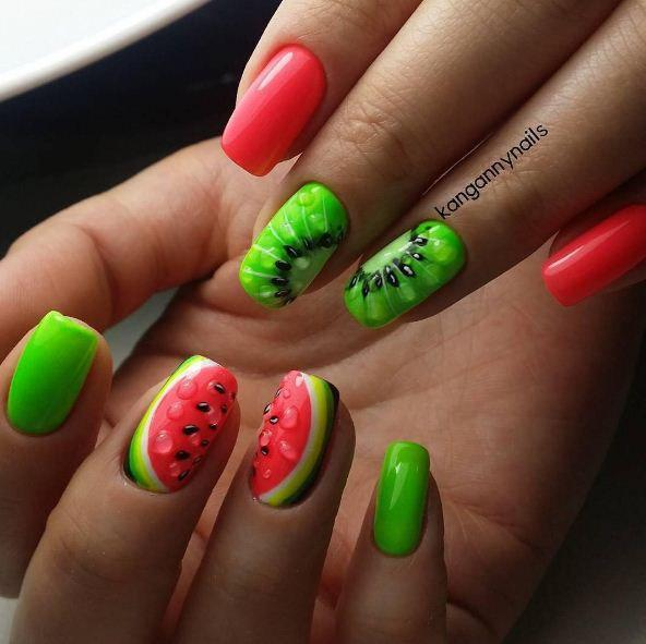 Pink and lime green nails the best images bestartnails pink and lime green nails prinsesfo Gallery