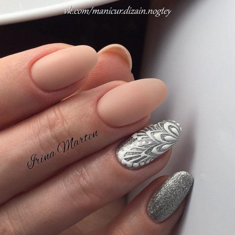 Ideas of peach nails