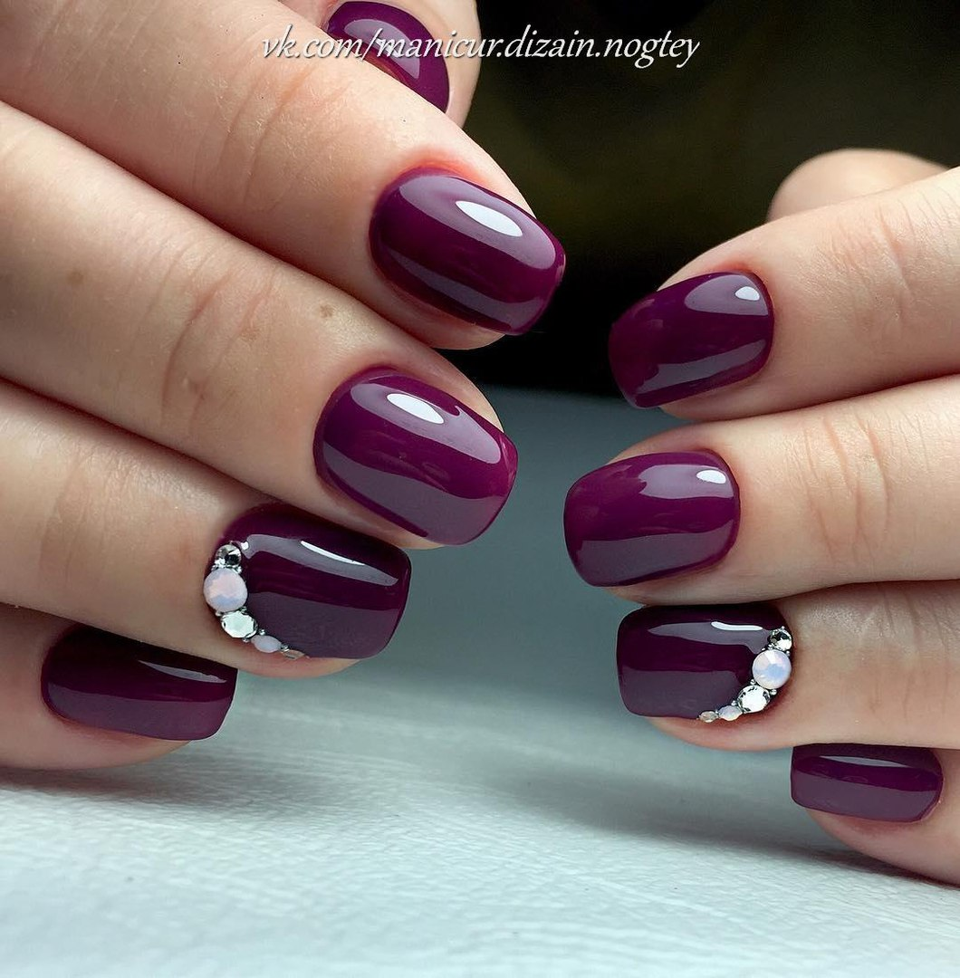 Plum nails - The Best Images | BestArtNails.com