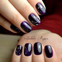 Dark purple nails photo