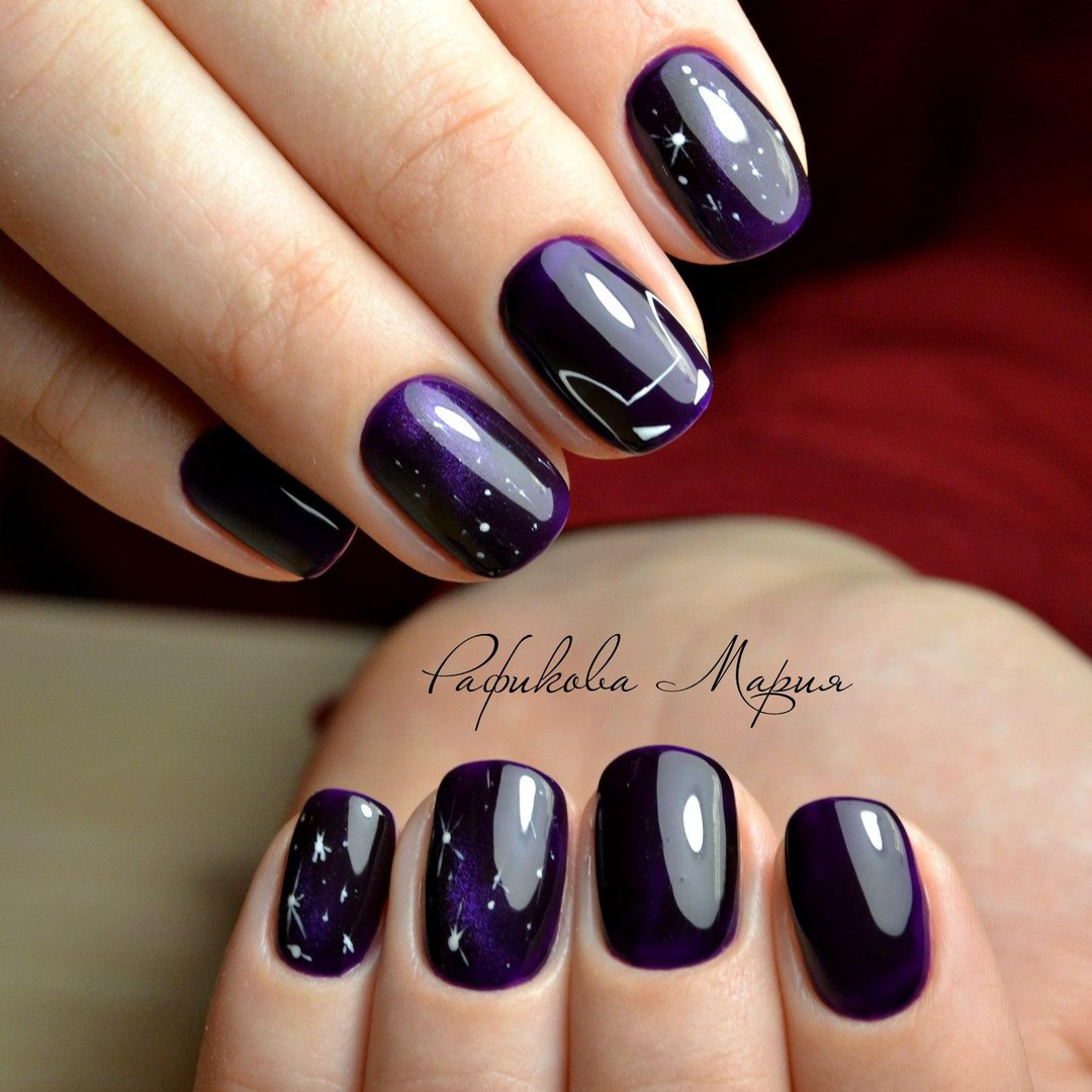 Dark purple nails photo - Dark Purple Nails - The Best Images BestArtNails.com