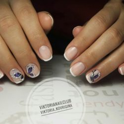 Beautiful delicate nails photo