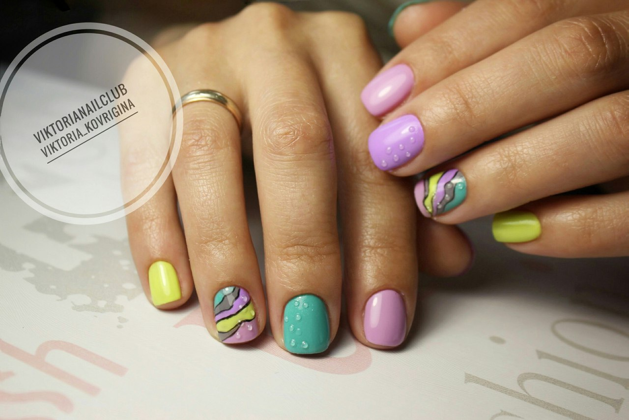 Multi-color nails - The Best Images | BestArtNails.com