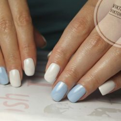 White Shellac Nails Photo
