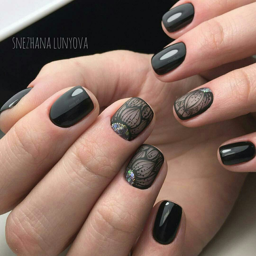 Beautiful black nails the best images bestartnails beautiful black nails photo nail art 3707 prinsesfo Choice Image