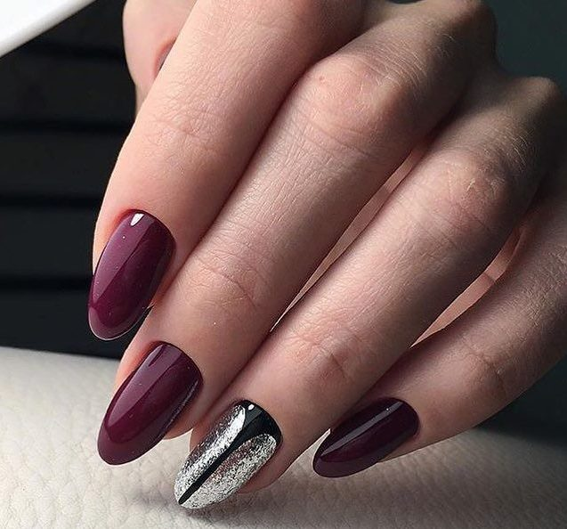 Burgundy nails ideas - Nail Art #3711 - Best Nail Art Designs Gallery BestArtNails.com