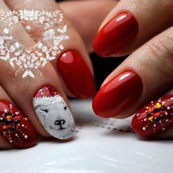 Red nail art photo