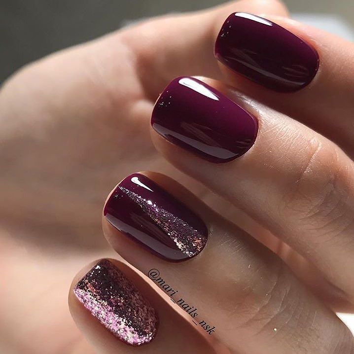 Burgundy nails ideas photo