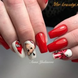 Beautiful new year's nail photo