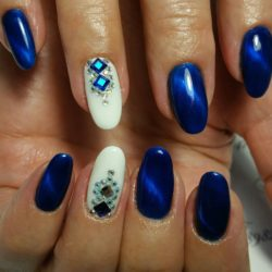 Dark blue nails photo