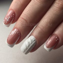 Winter french nails photo