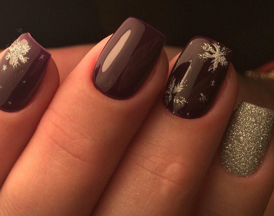 Maroon nails - The Best Images | BestArtNails.com