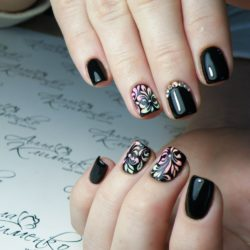 Beautiful black nails photo