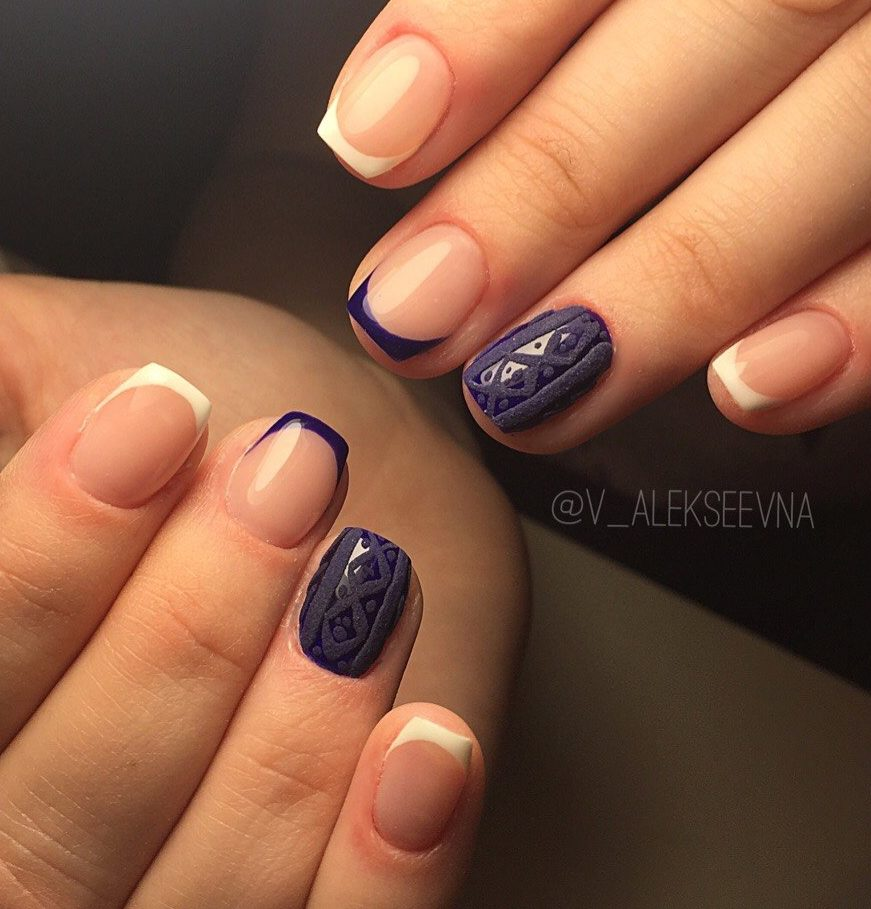 White And Purple Nails The Best Images Bestartnails