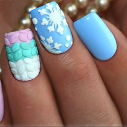 Cute colorful nails photo