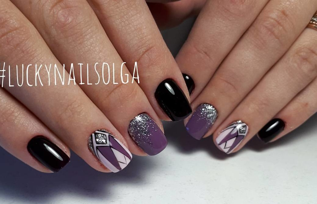 Black and purple nails - The Best Images | BestArtNails.com